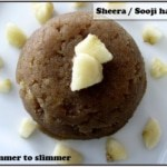 Sheera / Sooji halwa with banana