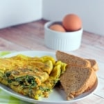 Here's an easy-to-follow Indian Omelette recipe from Simmer to Slimmer.