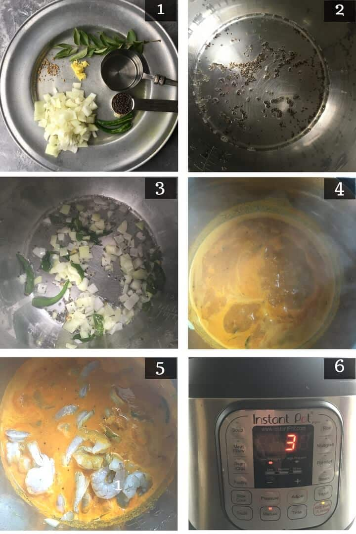 Step by Step pictures on how to make masala for Prawn Gassi