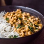 Black eyed peas curry (chawli / lobia masala)