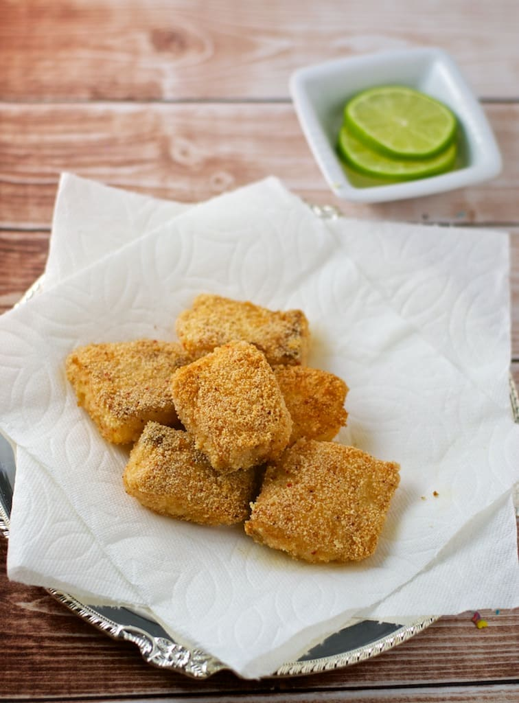 Fish Fry or Fish nuggets is a great after school snack that can be prepared in less 30 minutes. Fish Fry, also called as Meen Kadina is a common delicacy in Mangalore eaten as a side dish to go with a meal.