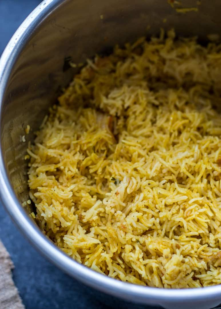 Shrimp Biryani in an Instant Pot