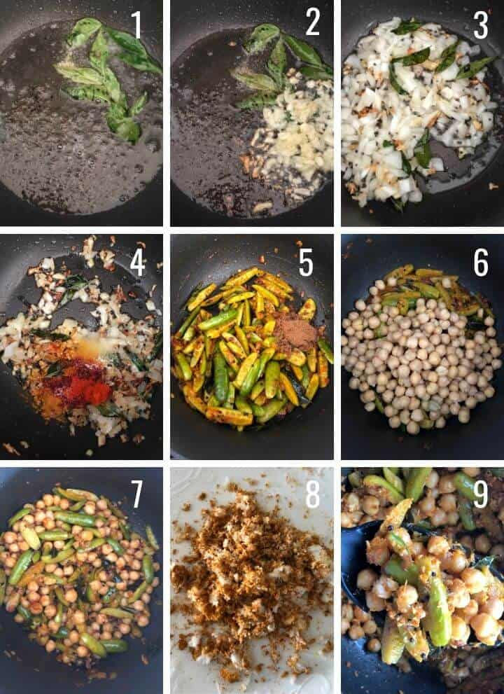 A collage of images showing how to make Kadle Manoli step by step