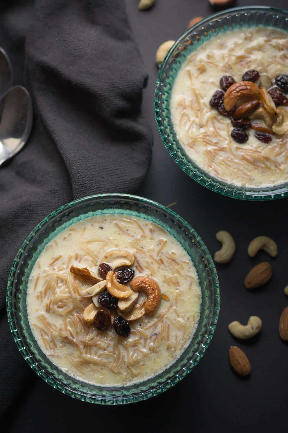 Seviyan kheer or Semiyan payasam is a creamy and delicious dessert that you can put together in a cinch.