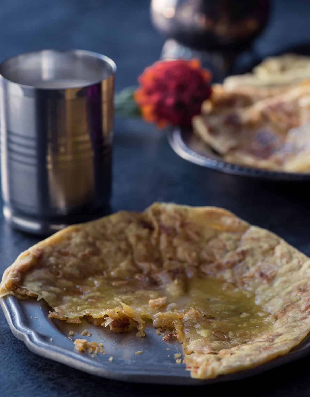 Nothing is more heavenly than a bite of this flaky melt-in-the-mouth Puran poli
