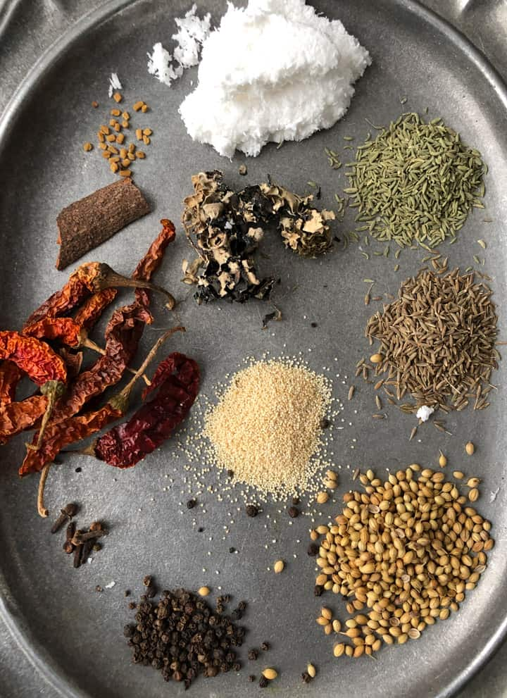 Spices for Chettinad masala