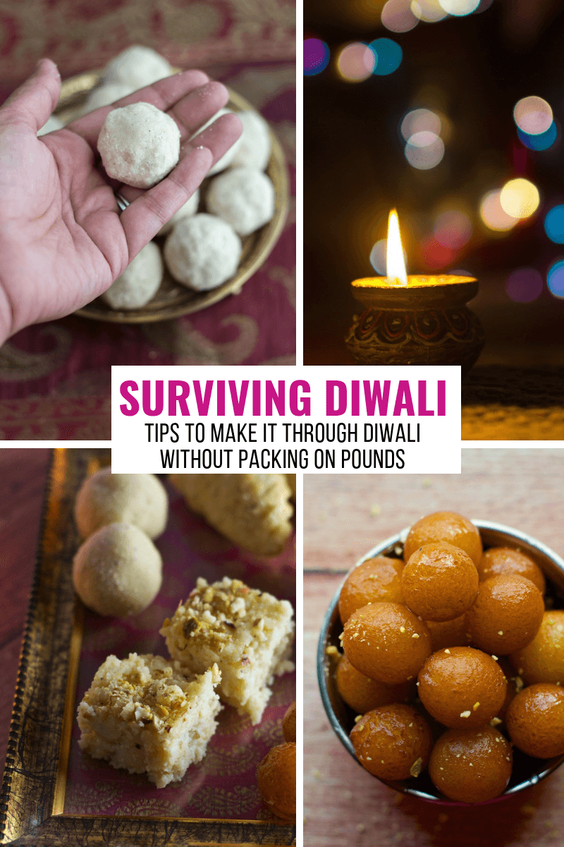 A collage of Diwali Sweets