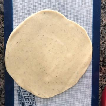Rolled Kaju barfi dough
