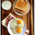 Half fried eggs