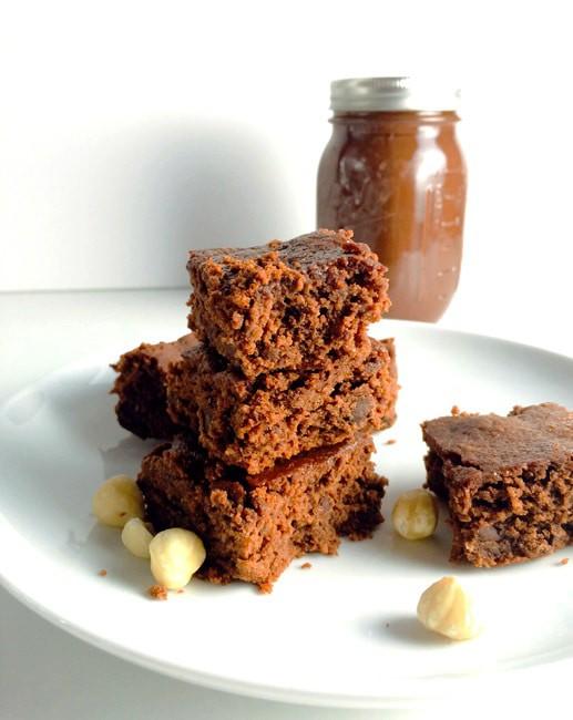 Oats – Hazelnut butter Brownies