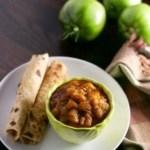 Hare Tamatar Ki Sabzi (Green tomatoes in gravy)