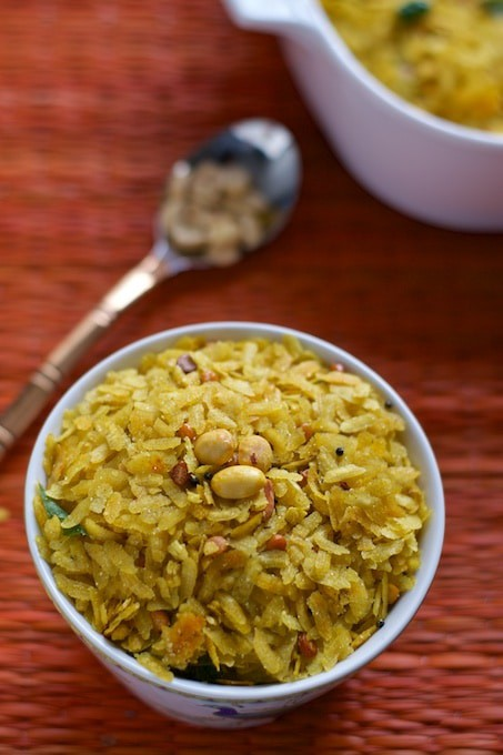 Say no to store bought chivdas! Make this Poha chivda this Diwali and all you need is 10 minutes. Makes for a great after school snack as well!