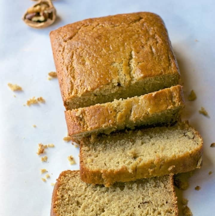 A quick and easy way to whip up moist Banana bread in a blender in no time!