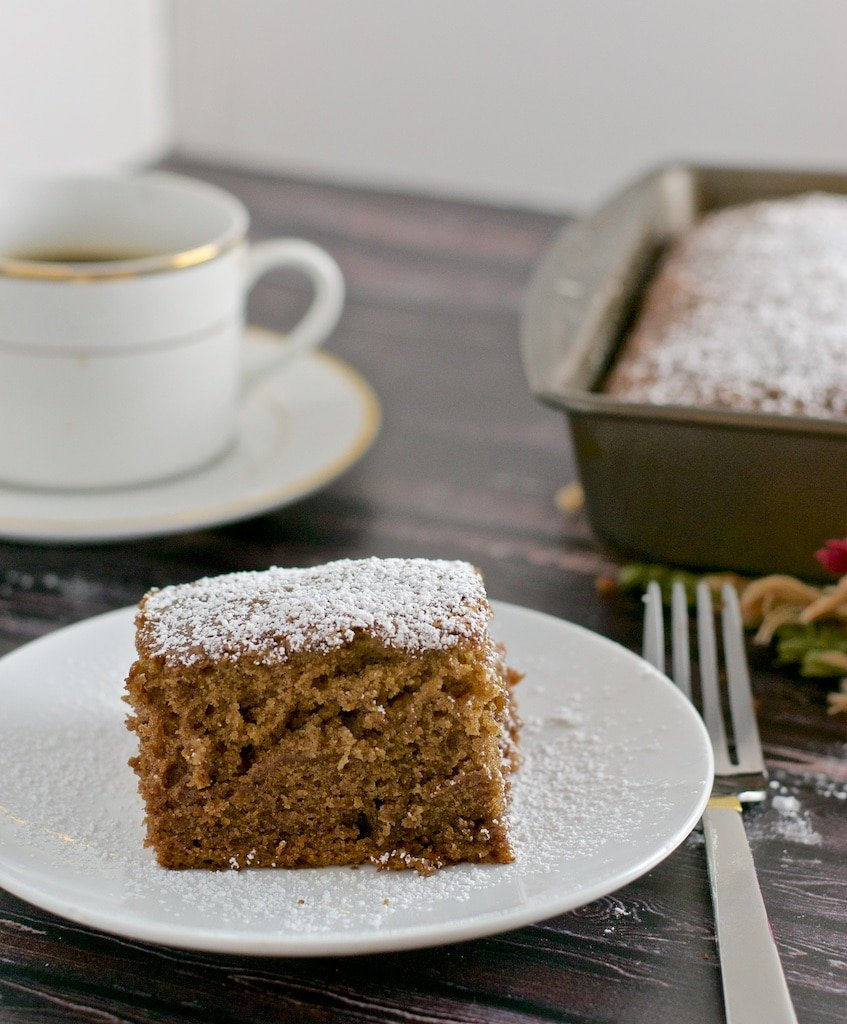 Date cake - a cake made from luscious dates that's so easy to make that soon this will be your go-to recipe. What is nice that you can make this in your blender as well!