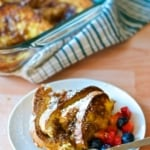 Baked French Toast is an easy to make breakfast that can be planned a day ahead.