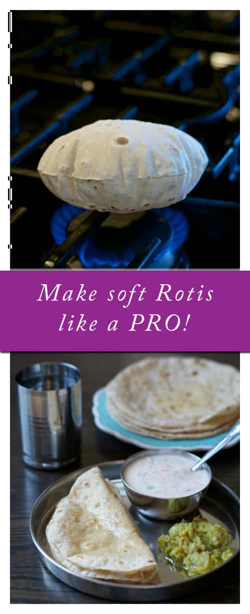 Step by Step tutorial on how to make soft Rotis or Chapatis like a Pro!