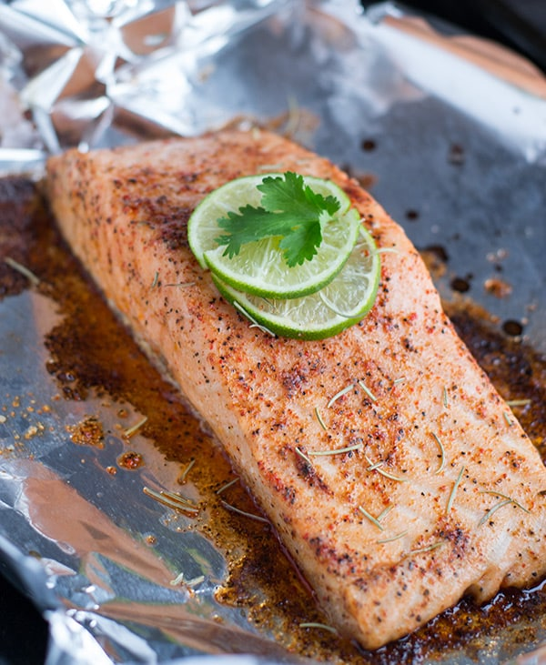Make this moist and flavorful Baked Salmon using only 4 basic ingredients AND in less than 15 minutes!
