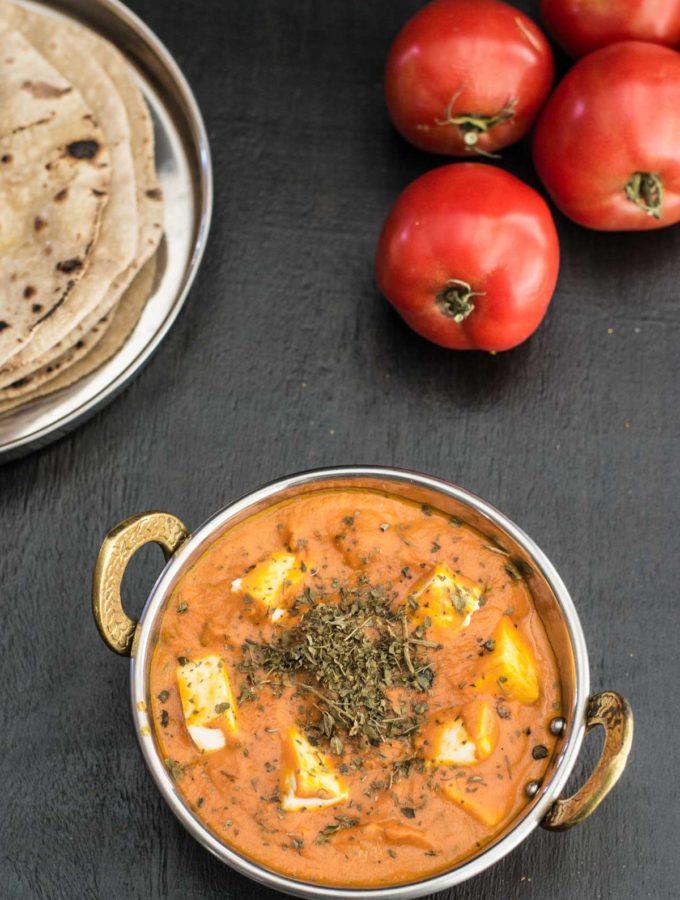 Restaurant Style Paneer Makhani or Paneer Butter Masala