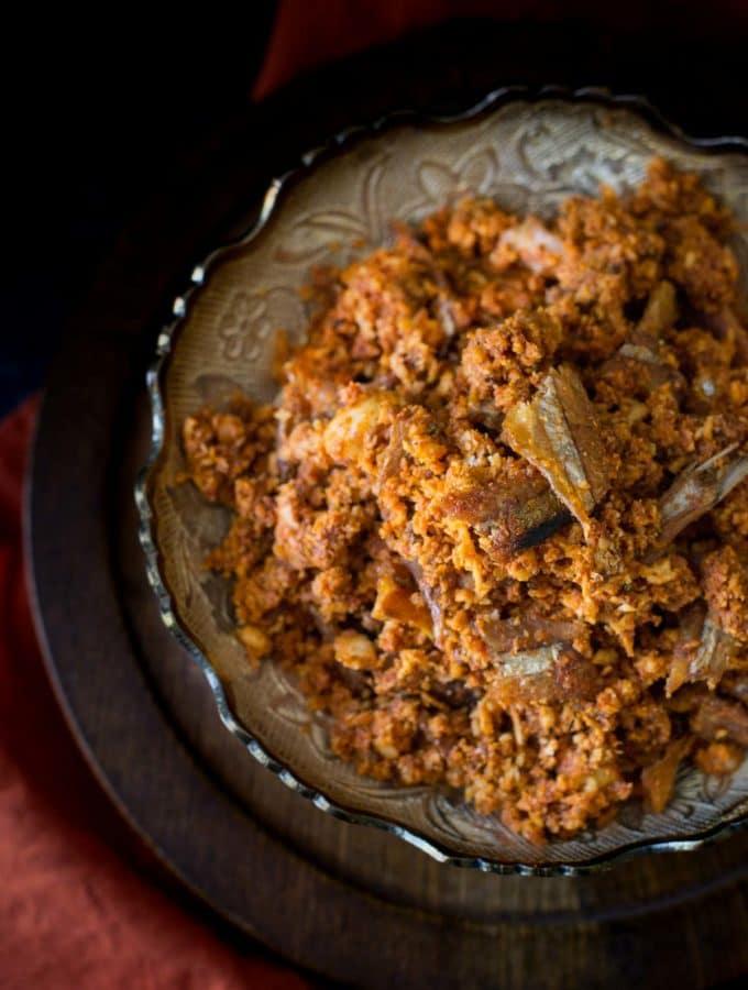 Dry fish chutney (Nungel meen Chutney)
