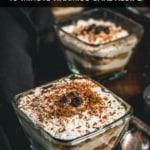 Tiramisu served in glass bowls
