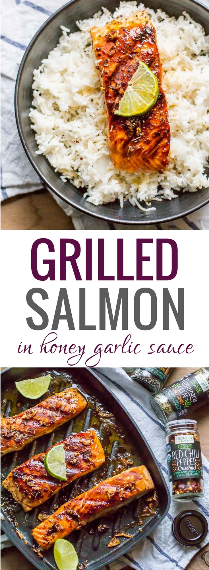 This easy 15-minute grilled honey garlic salmon is perfect for days when you crave a fancy meal but don't want to pay for it or spend hours making it. It is so finger-licking good that you'll imagine you are in an upscale restaurant enjoying a gourmet meal. #grilled #salmon #cookwithpurpose #sponsored