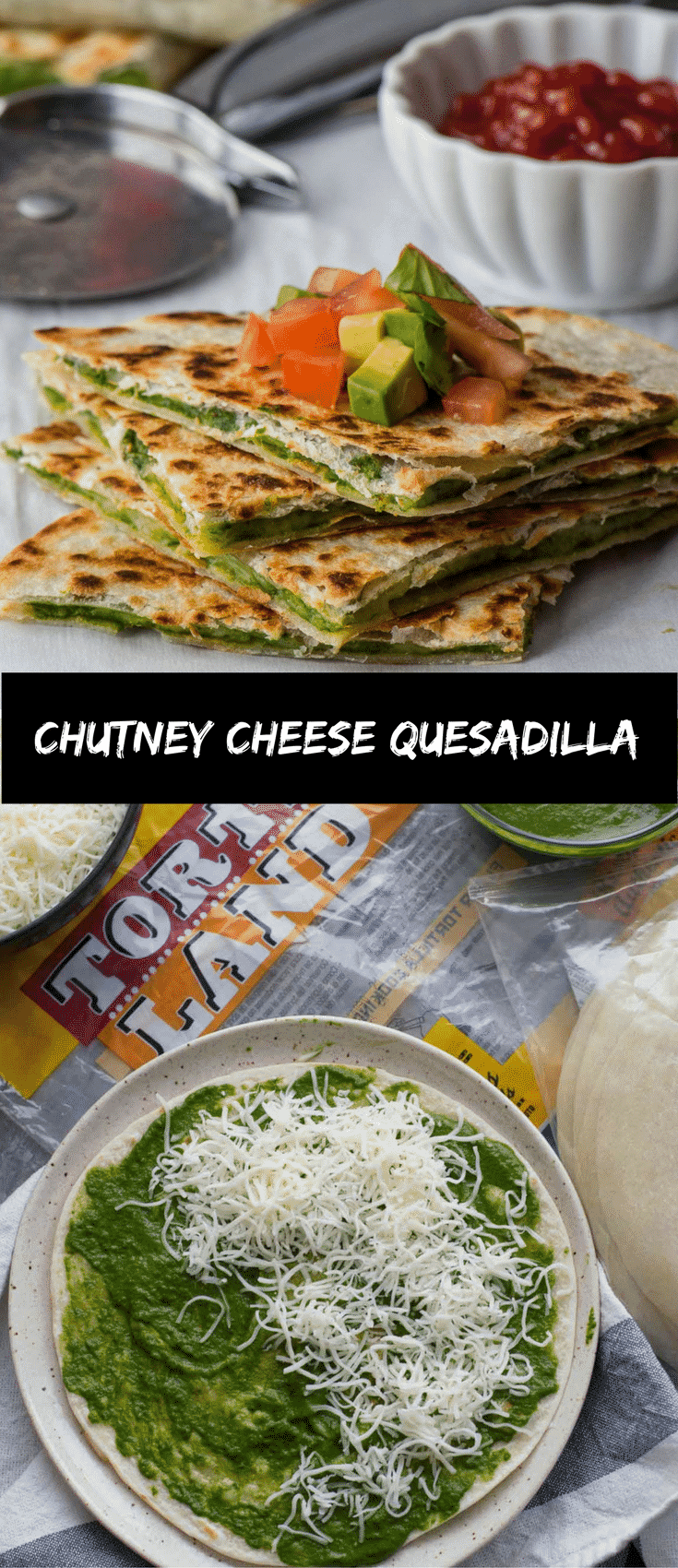 These delicious chutney cheese quesadillas can be put together in a cinch. Makes for a quick and easy after school snack. Grab the TortillaLand tortillas from Costco and these 5-ingredient tortillas are ready in 60 seconds. This is a sponsored post written by me on behalf of Tyson foods. All opinions are entirely my own.