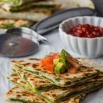 Easy after school snack recipes – Chutney cheese quesadilla and Mini veggie tortilla rolls