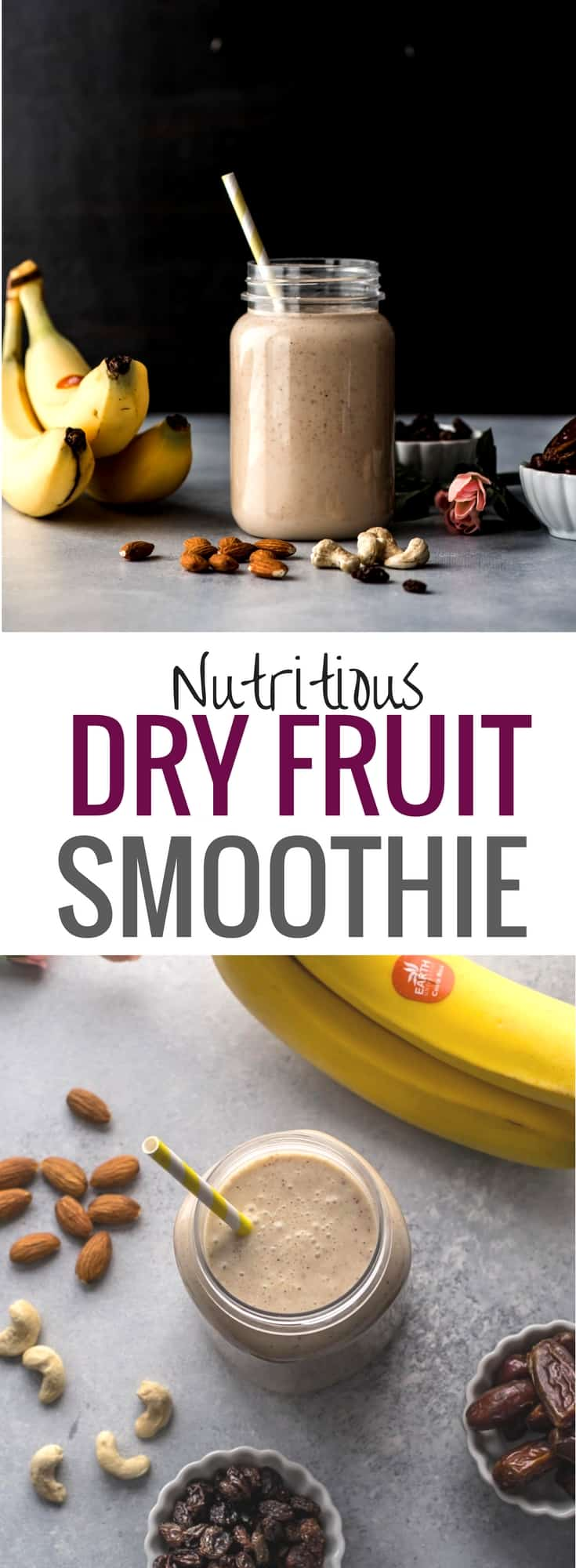 Dry fruits smoothie is a great way to combine nutritious milk and dry fruits to create a wholesome meal for any time of the day.Popularly known in India as dry fruits milkshake, this smoothie is a kid-favorite #MyMilkMyWay #CollectiveBias #sponsored #Indiancuisine #healthyindianrecipes #indianvegetarianrecipes #ethniccuisine #worldcuisine #indianfood #milkshake #dryfruits