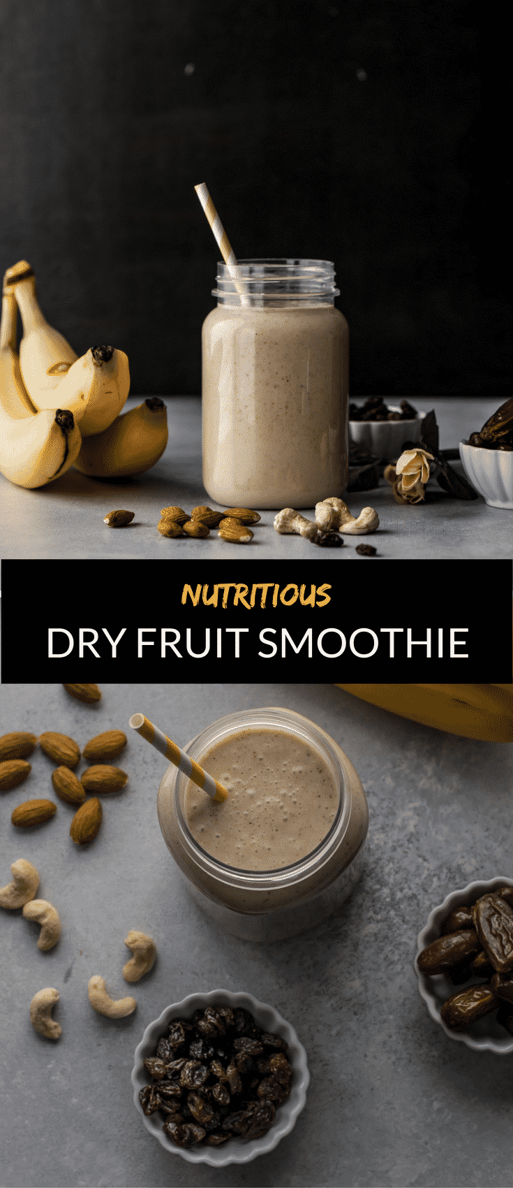Dry fruit smoothie is a great way to combine nutritious milk and dry fruits to create a wholesome meal for any time of the day.