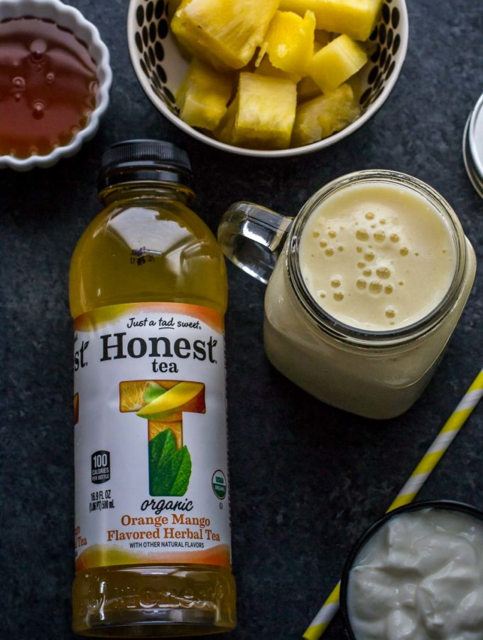 Pineapple Orange Mango Smoothie – for the mom on the go!