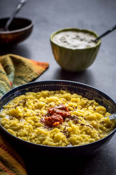 One pot Moong dal khichdi (Lentil Porridge)