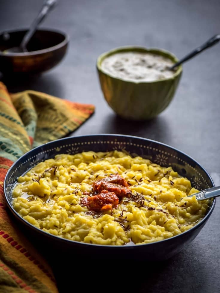 One pot Moong dal khichdi (Lentil Porridge)