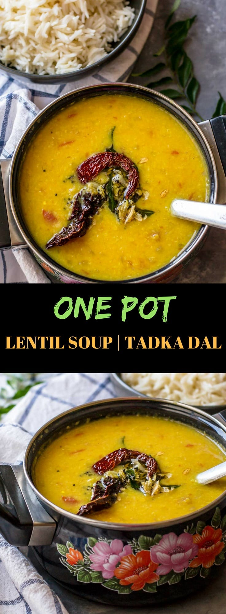 You'll love this simple yet flavorful Tadka dal (tempered dal) recipe - make it in an Instant Pot or a pressure cooker - and your meal is ready in no time.