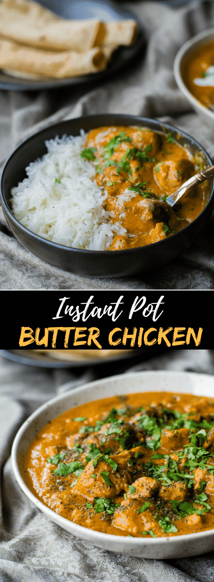 This authentic and 30-minute Indian Butter chicken recipe is so easy and delicious that you will soon make it part of your weekly dinner menu. Make this murgh makhani right at home in an Instant Pot for the most flavorful and moist chicken you've ever tasted. #instantpotrecipe #chickenrecipe #indianfood #butterchicken