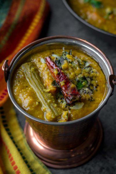 Instant Pot Sambar (Lentil-vegetable stew)