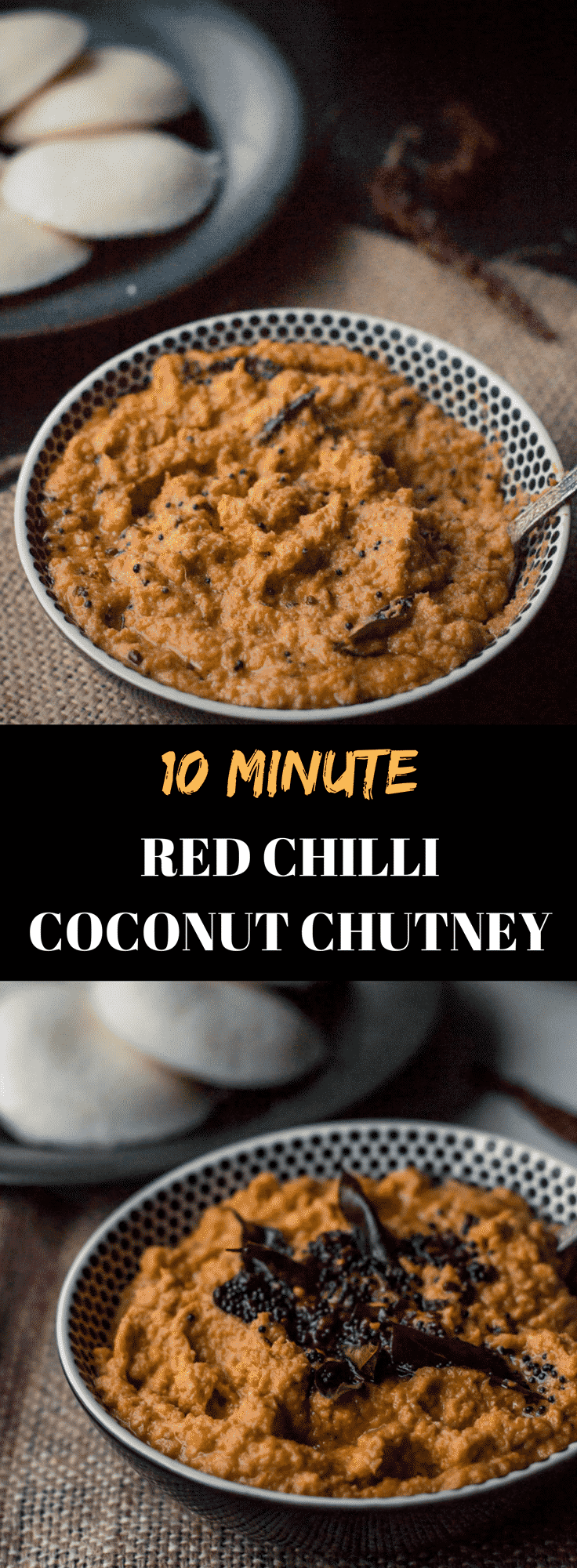 Red Chilli Coconut Chutney Recipe or Red Coconut Chutney is a sweet, spicy and tangy South Indian Style chutney that pairs well with Indian breakfasts such as dosa and idli.