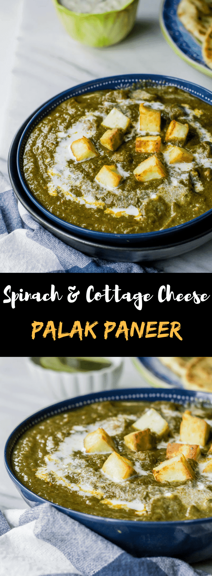 Palak Paneer Restaurant Style - Here's is an easy recipe to make restaurant style Palak Paneer (Spinach with cottage cheese) at home the healthy way!