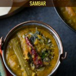 Sambar served in a steel bowl