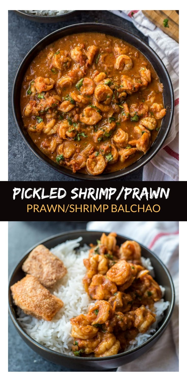 Great news for Prawn (Shrimp) and Spicy food lovers! Tired of making shrimp/prawn the old way? - Try Prawns Balchao. It is a fiery dish that finds its origins in Goa. Prawns are stir-fried first and then added to a pickled curry sauce to create a dish that makes your taste buds tingle and leaves you asking for more.
