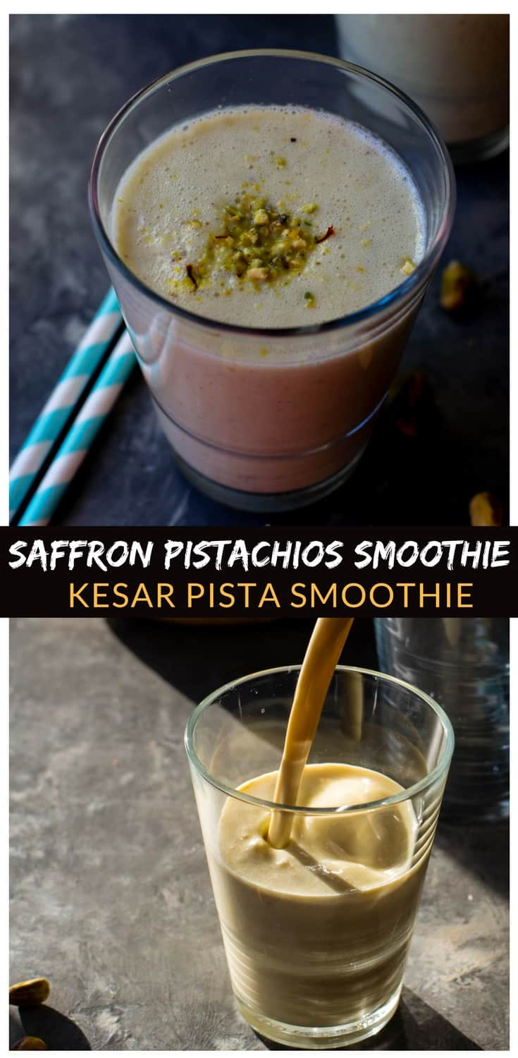 Kesar pista smoothie is one of a kind - it combines saffron (kesar), pistachios (pista), with banana, cardamom,and milk to create a delicious and nutrient-rich drink that's perfect for kids and as a post-workout drink.