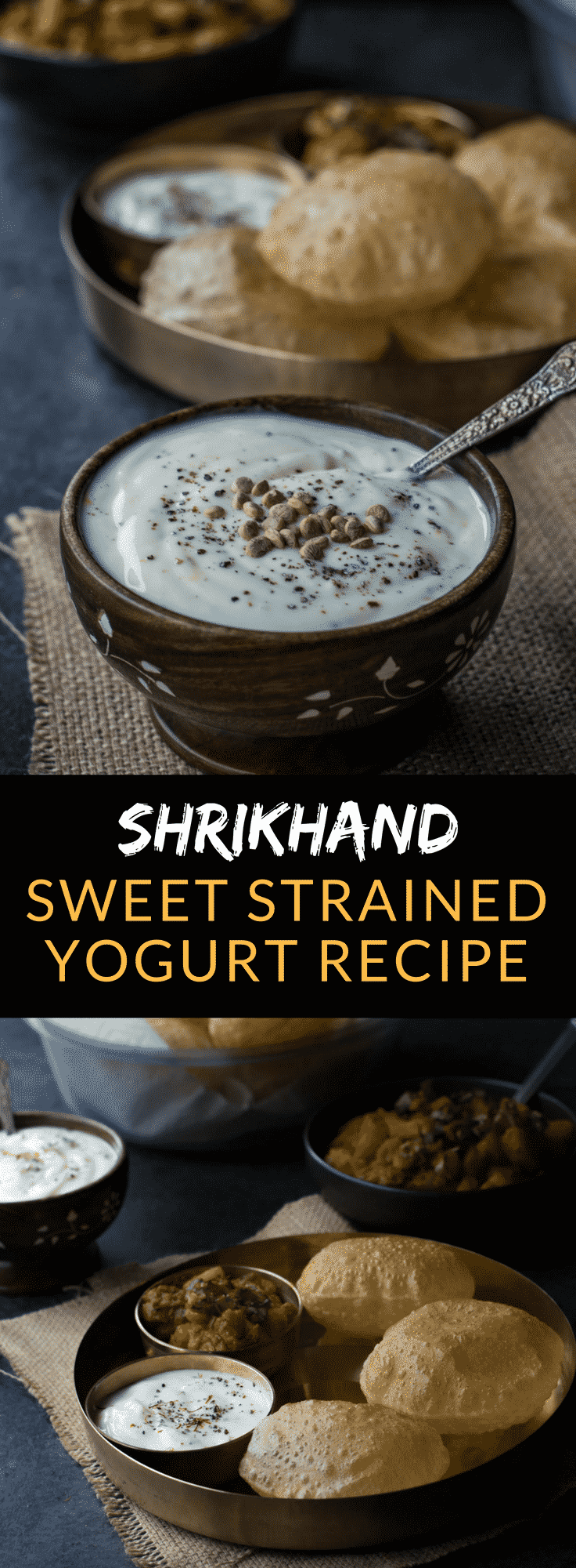 Elaichi Shrikhand recipe- This addictive Indian sweet dish made from thick or Greek yogurt takes all of 5 minutes and can be served as a dessert or as a delicious accompaniment to pooris (Indian flatbread). #Indiancuisine #Indiandessert #Indianfood #shrikhand