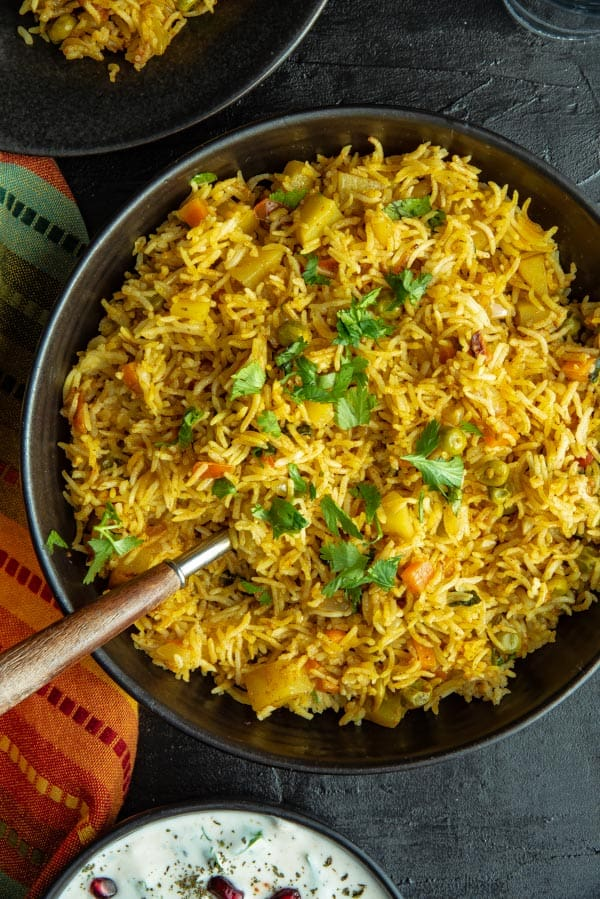 Instant Pot Vegetable Biryani Recipe How To Make Veg Biryani In 30 Mins