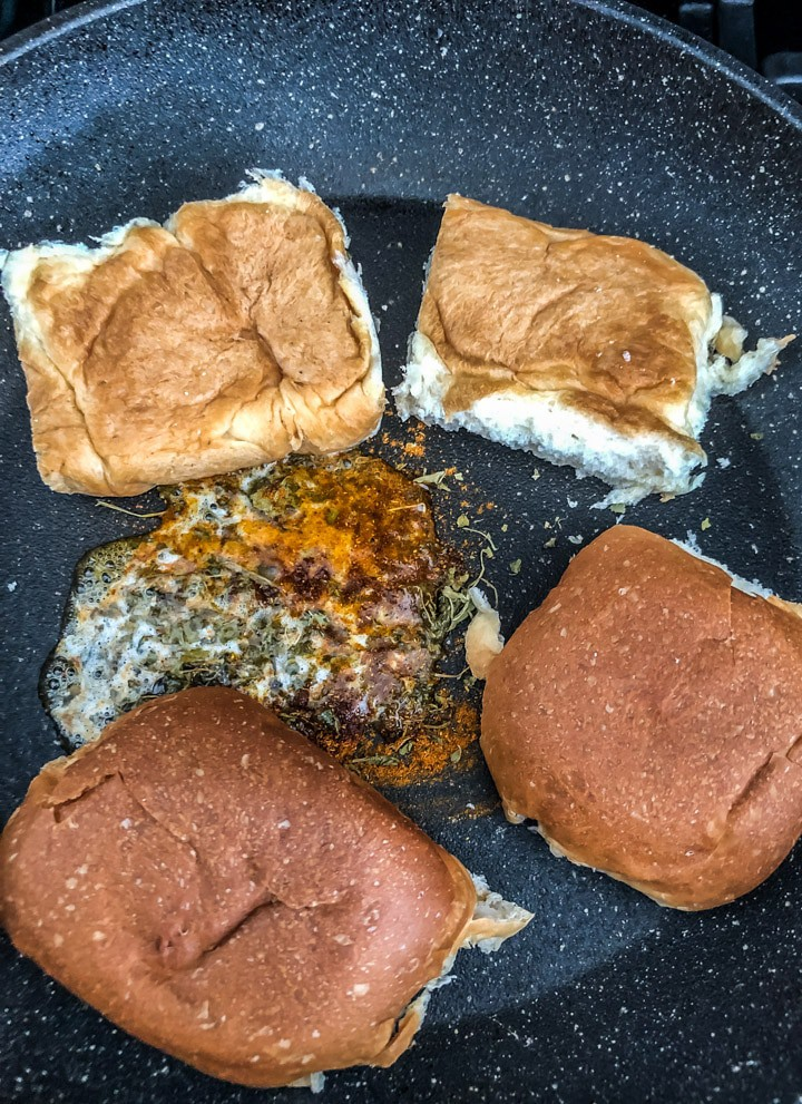 Fry pav slices till they are golden brown