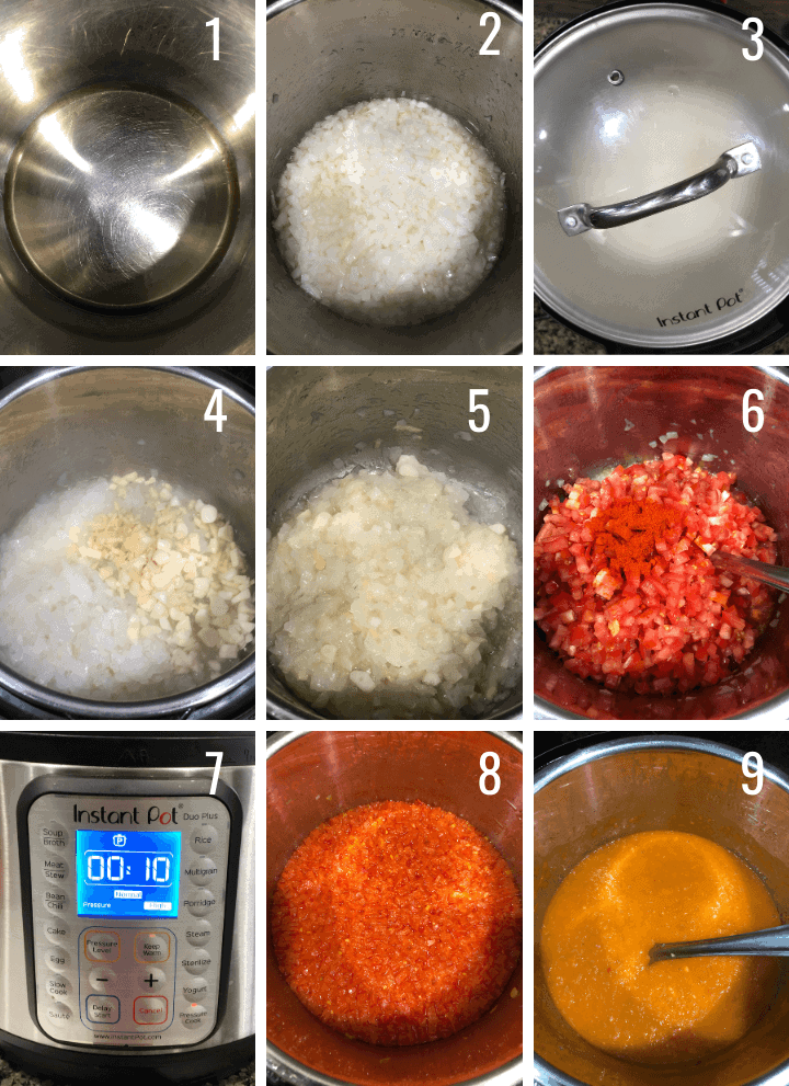 Step by step pictures to make curry sauce in Instant Pot