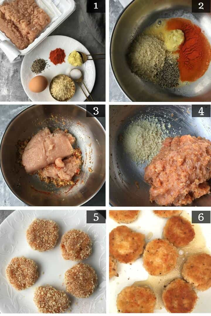 Step by step pictures on how to chicken nuggets with ground chicken