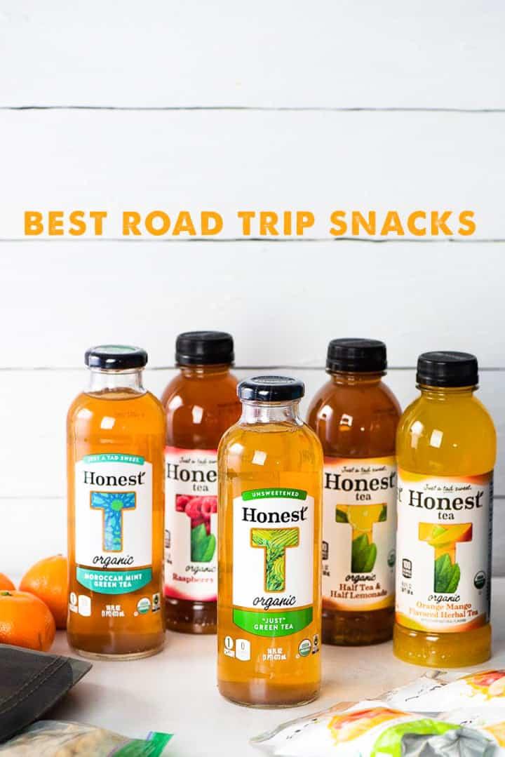 Honest Tea accompanied by snacks