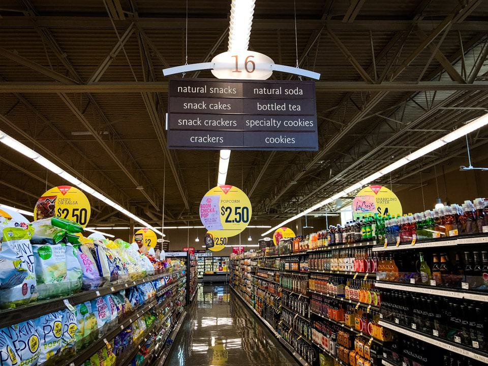 The grocery store aisle where you can find Honest Tea