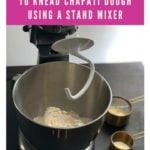 Kneading dough using stand mixer