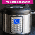 A poster showing the text Instant Pot - Top rated cookbooks