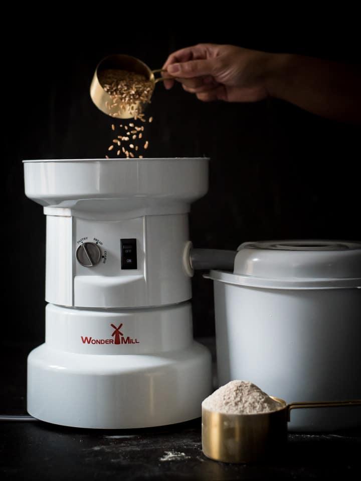 Making Whole Wheat Flour in a WonderMill
